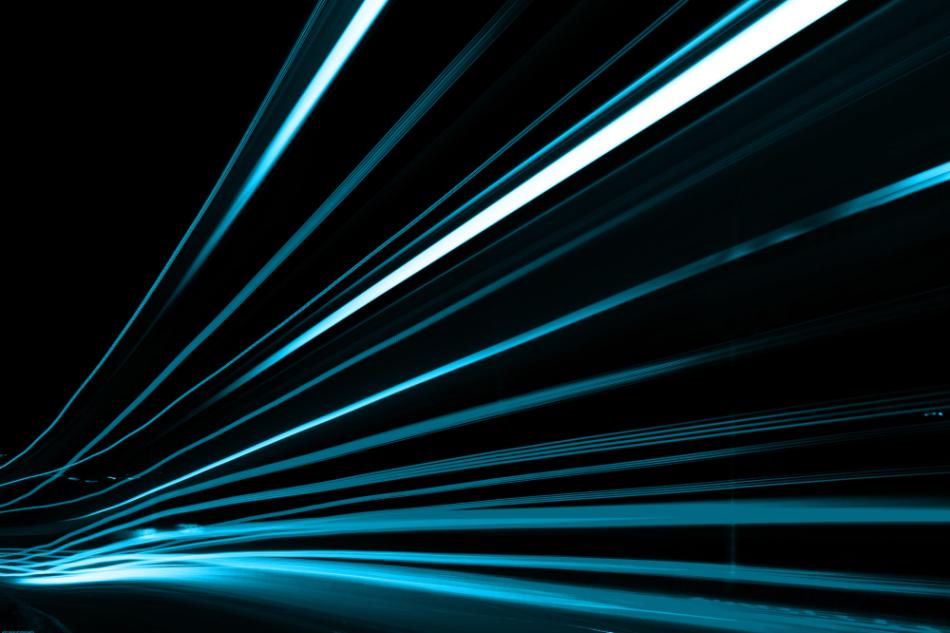 streak blue light